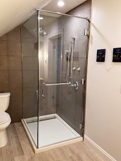 Recently completed shower